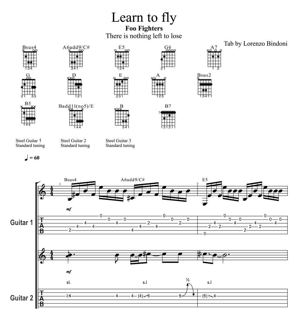Learn To Fly - Foo Fighters Guitar Lesson - EASY how to ...